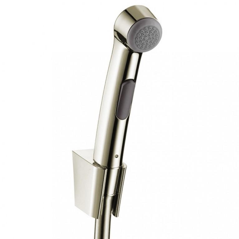 Hansgrohe Гигиенический душ, со шлангом 1,25 м и держателем, ½', цвет покрытия шлифованный никель