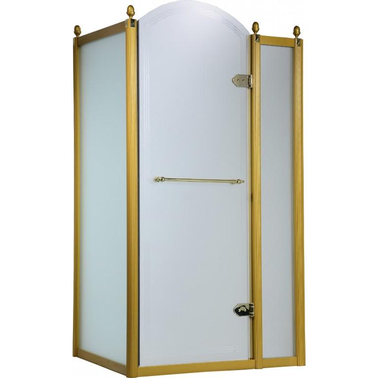 GRAND TENERIFE Gold Кабина с распашной дверью, в золоте, без поддона 1200*800*2000мм, правая, фото 1