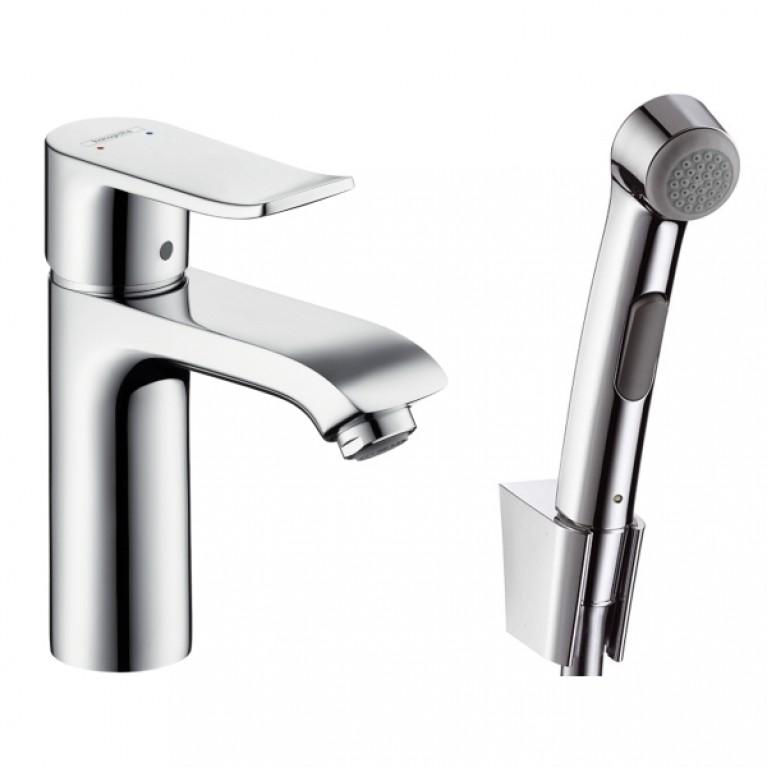 Metris Набор для биде (смеситель для раковины+Гигиенический душ)