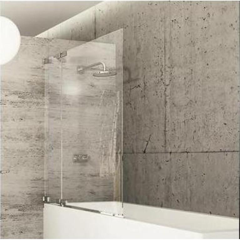 STUDIO BERLIN шторка для ванной  80*150см (проф  хром,стекло прозр Antiplaque)