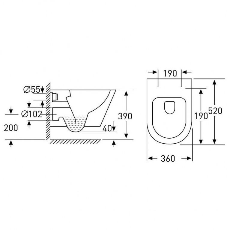Комплект: NEMO Rimless унитаз подвесной, сиденье Slim+Komплekт инсталляции Volle Master 4в1(хром) 13-17-316+141515, фото 3