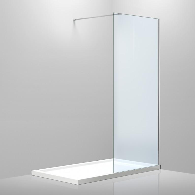 Стенка 1000*2000 мм, каленое прозрачное стекло 8мм