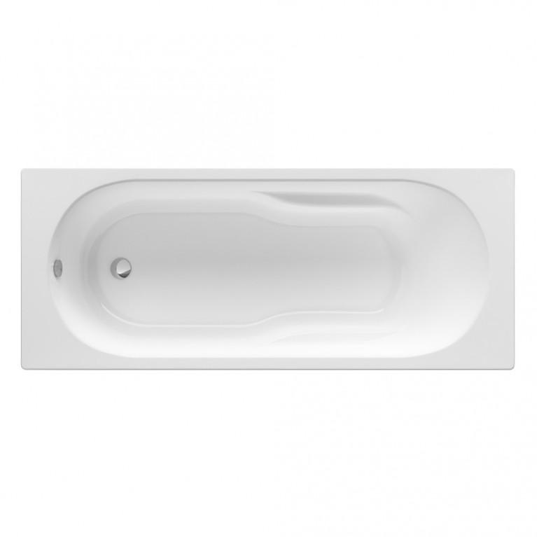 GENOVA ванна 160*70см, акриловая, прямоугольная, белая, с регулир. ножками в комплекте, объем 168л