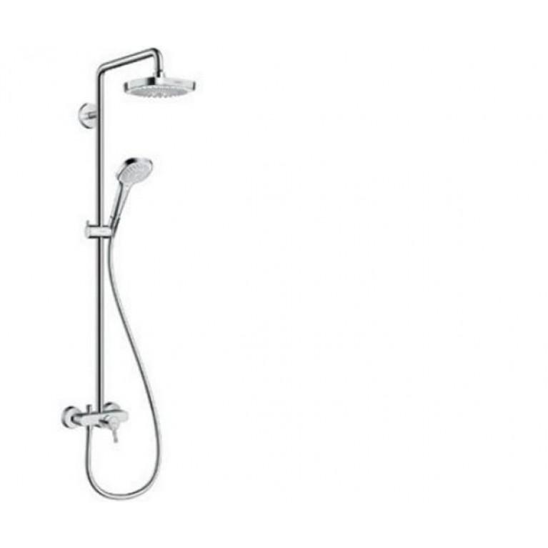 Croma Select E 180 2jet Showerpipe Душевая система, цв белый хром, фото 1