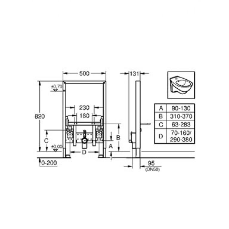 Rapid SL Инсталяционная система для биде 38543000, фото 2
