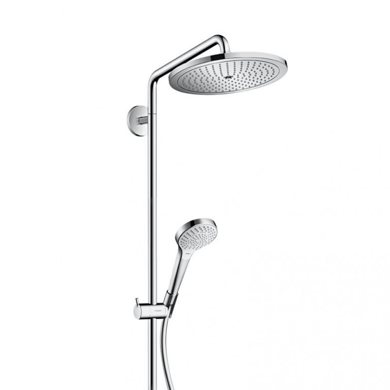 Croma Select S Душевая система Showerpipe 280 1jet, 9 л/мин с термостатом, версия EcoSmart, хром
