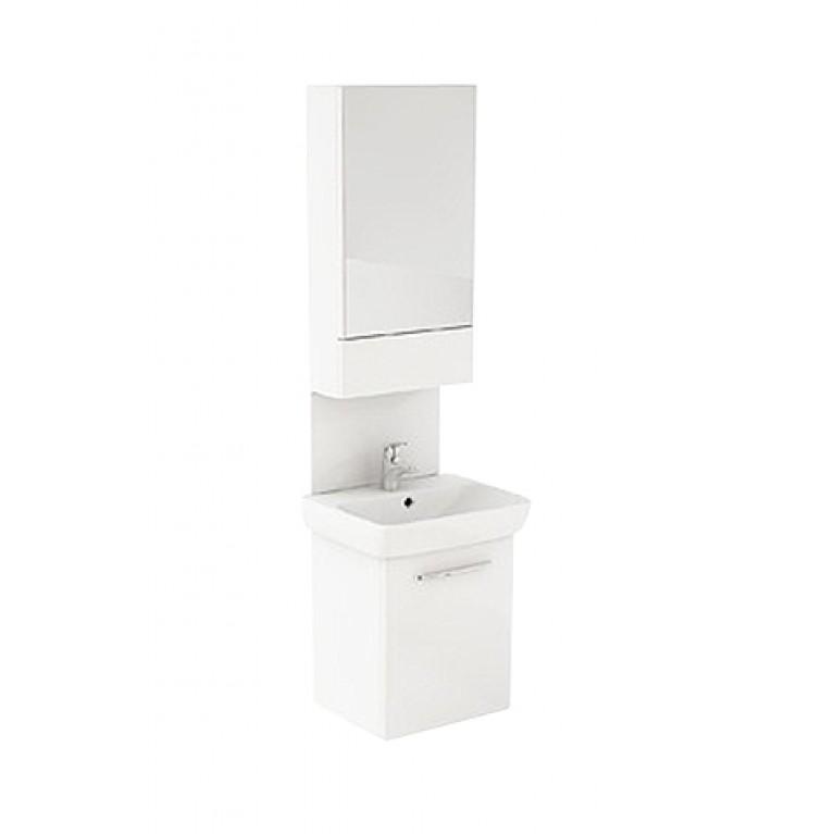 NOVA PRO комплект 60*202*46 cm (умывальник+ шкафчик с зеркалом+ панель для умыв.), цвет белый глянец