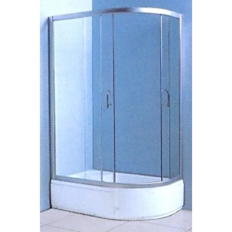 "VICTORIA-SATIN душевая кабина с глубоким поддоном 1200*800*2030 левая, стекло (4мм) ""FABRIC"" (в комп. с глуб, поддоном), фото 1"
