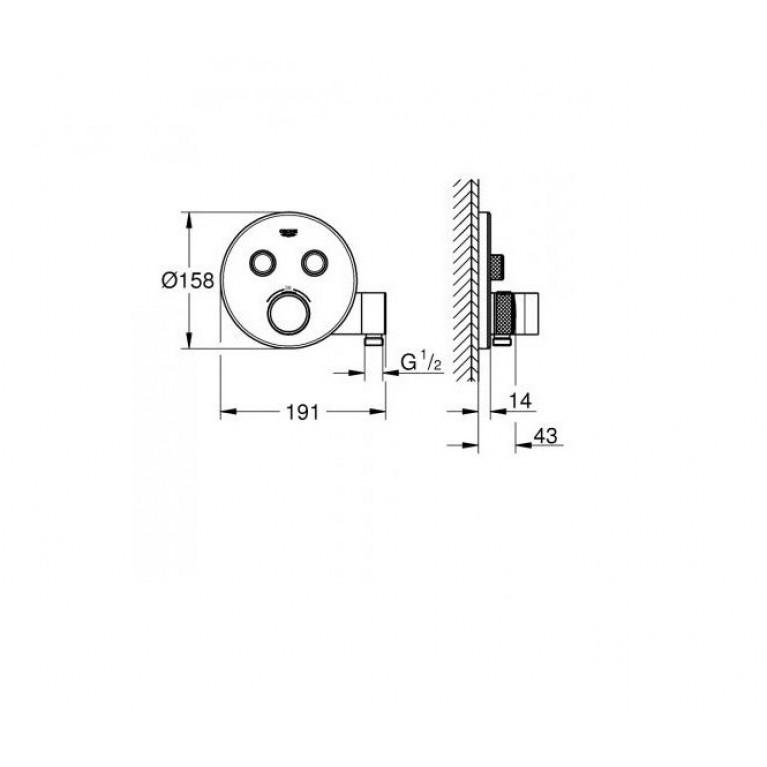 SmartControl Термостат для душа/ванны на 3 потребителя 29120000, фото 2