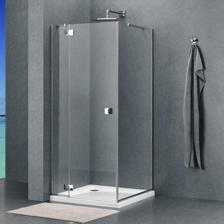 VALTICE Душевая кабина квадратная 88*88*195см (стекла+двери), распашная дверь, стекло прозрачное 8мм с покрытием Easy Clean(без поддона)