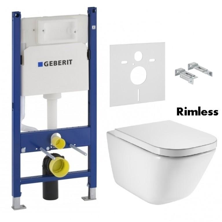 Комплект: GAP Rimless подвесной унитаз с сиденьем slow-closing