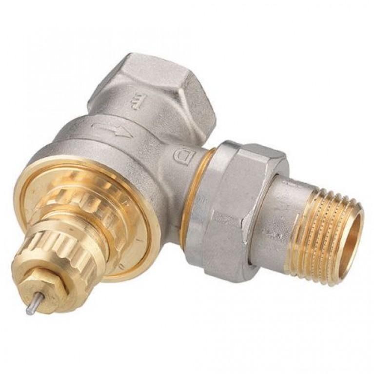 Термостатический клапан Danfoss RA-G 15 для однотрубной системы угловой, фото 1