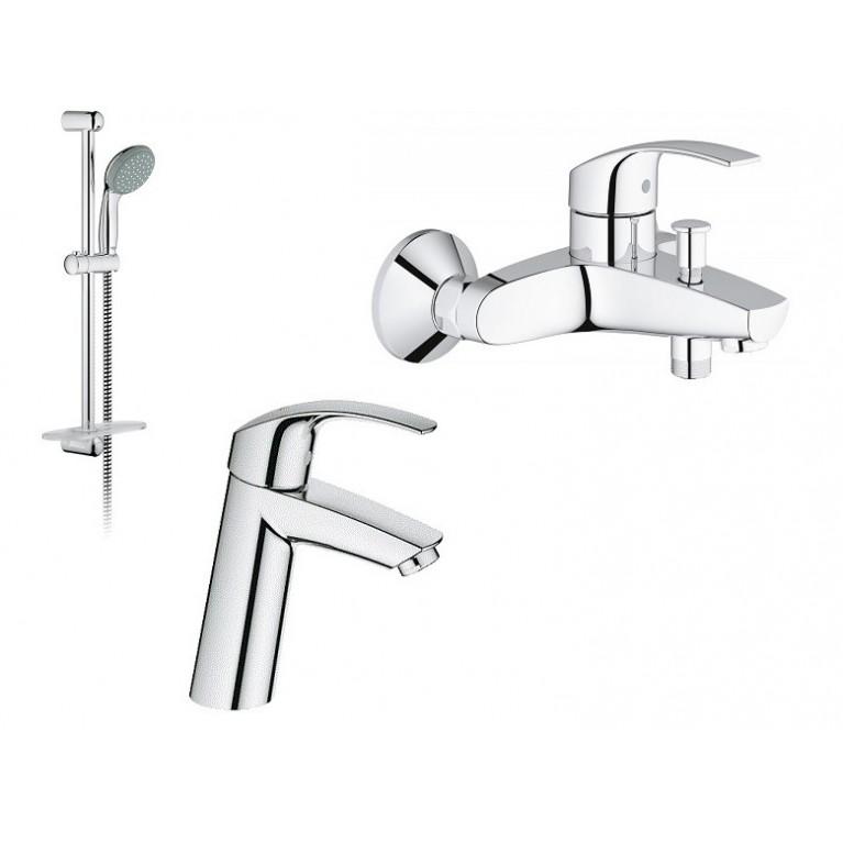 Eurosmart Набор смесителей для ванны (23324001+33300002+27926000), фото 1