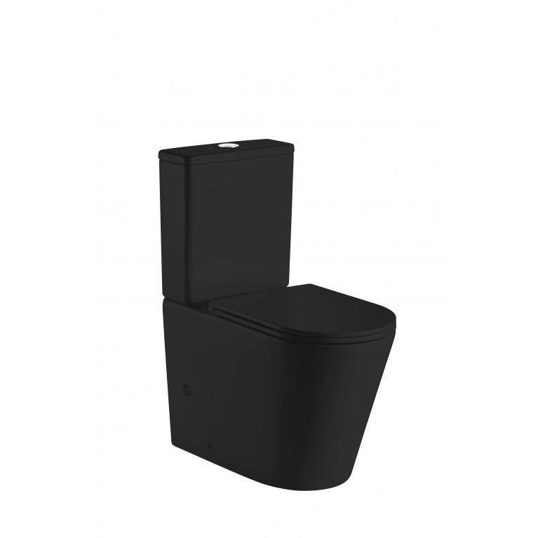 Компакт VOLLE NEMO BLACK Rimless, сиденье твердое Slim slоw-сlosing