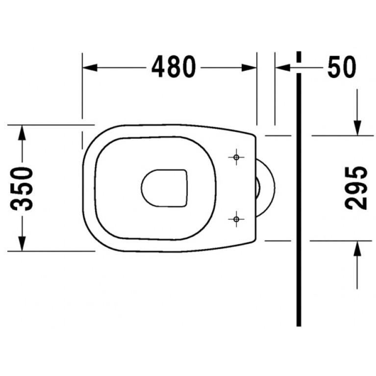 D-CODE унитаз 35*53см, с верт. смывом, сток вертикальный 21100100002, фото 3