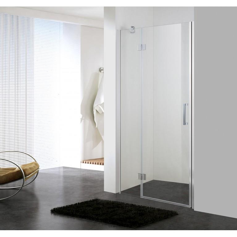 Дверь в нишу распашная на петлях 100*185см, прозрачное стекло 6мм