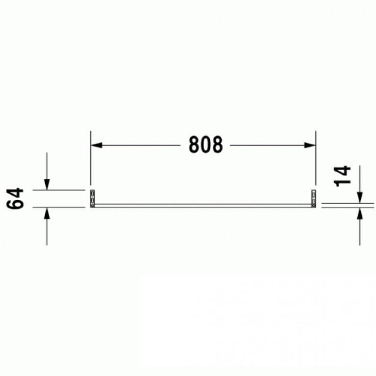 D-CODE полотенцедержатель 80,8см, для умывальника 032985,034285, 035285 0030361000, фото 3