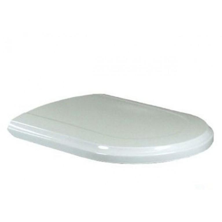 HOMMAGE сиденье с крышкой на унитаз, петли латунь, Soft close, белый глянец С+
