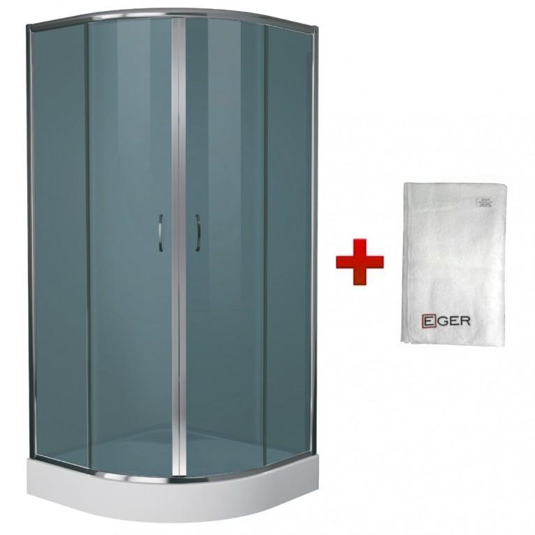 Купить BALATON душ. кабина 90*90*200 см, акриловый поддон 15 см+Банное полотенце Егер у официального дилера EGER в Украине