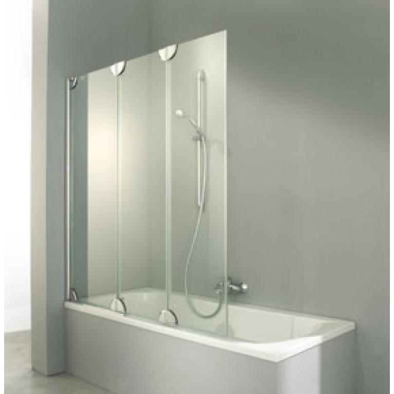 3000 штора  3 х панельная на ванну (профиль хром,стекло прозр Anti Plaque,крепление справа)