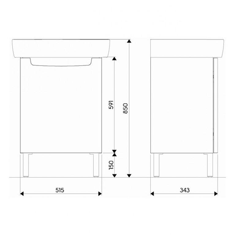 Мебельный комплект KOLO REKORD 60 см белый глянец K99026000, фото 2