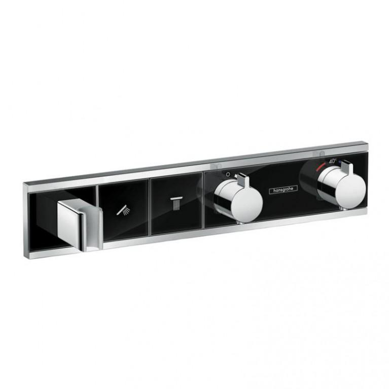 RainSelect Термостат для душа, на 2 потребителя хром/чёрный