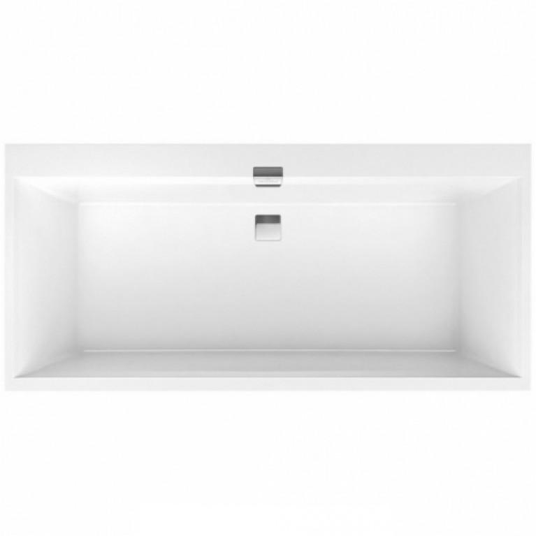 SQUARO EDGE 12 ванна 190*90см, с ножками в компл. со слив переливом, цвет star white