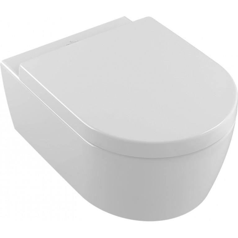 AVENTO унитаз подвесной, гориз выпуск, Direct Flush, с сидением QuickRelease, SoftClosing, фото 1