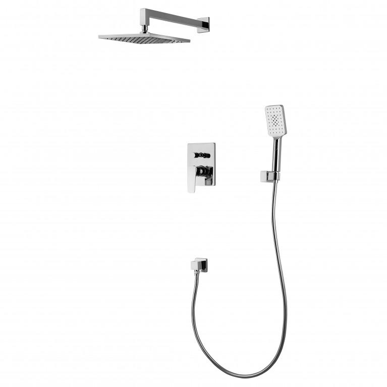 VALTICE комплект для ванны/душа (смес.с переключ.,верхн.душ, ручной душ,шланг, шланг. подсоед), фото 1