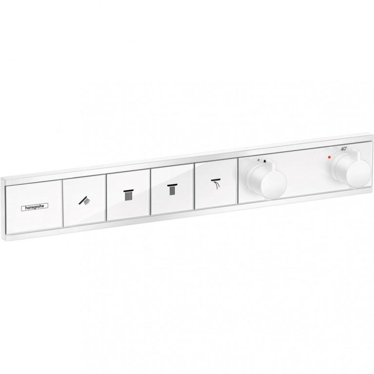 RainSelect Термостат для 4 потребителей, скрытого монтажа, матовый белый