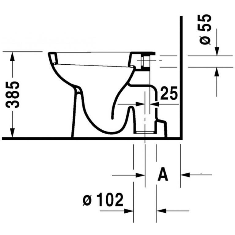 D-CODE унитаз 35*53см, с верт. смывом, сток вертикальный 21100100002, фото 2
