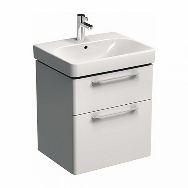 TRAFFIC шкафчик под умывальник 56,8*62,5*46,1 см, белый глянец (пол.), фото 1