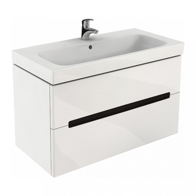 MODO шкафчик под умывальник 99*55*47,9 см белый глянец (пол.), фото 1