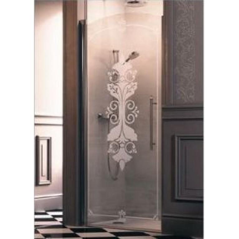 Купить DESIGN VICTORIAN Дверь распашная 90*190см (проф гл хром, стекло Anti-Plaque) у официального дилера HUPPE в Украине