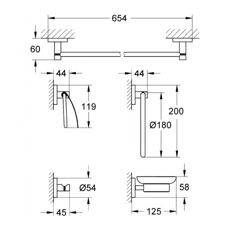 Essentials Набор аксессуаров 40344001