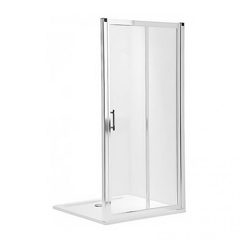 GEO 6 двери 120см, раздвижные, закаленное стекло PRISMATIC, серебряный блеск, часть 1/2, фото 1
