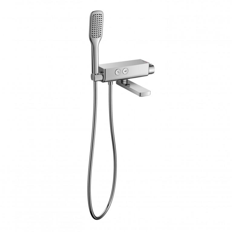Смеситель для ванны IMPRESE SMART CLICK 2 режима хром, фото 1