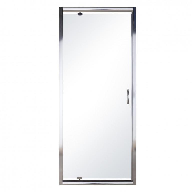 Дверь в нишу распашная 80*195, профиль хром, стекло прозрачное 5 мм