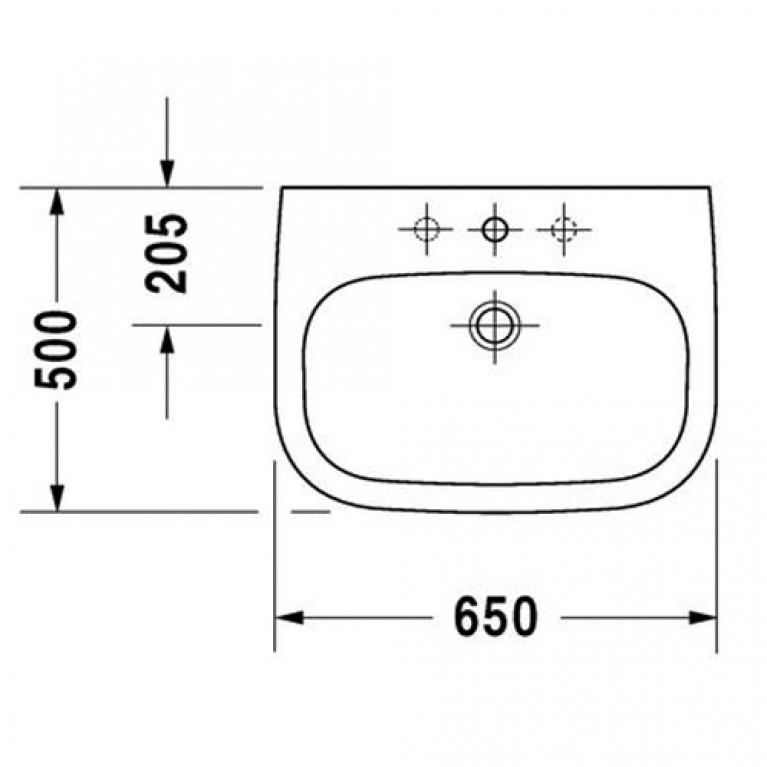 D-CODE умывальник 65см 23106500002, фото 2
