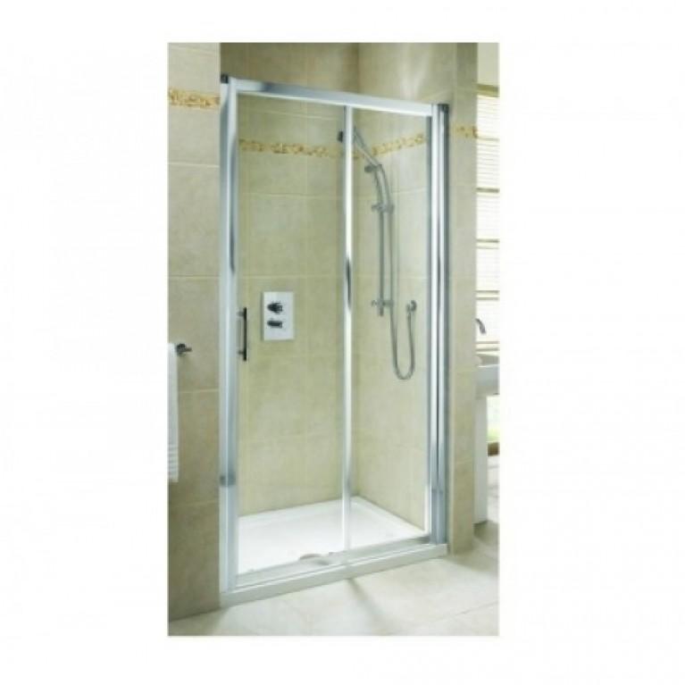 GEO 6 двери раздвижные 2-элементные 110 см, закаленное стекло, серебряный блеск, часть 2/2 GDRS11222003B, фото 3