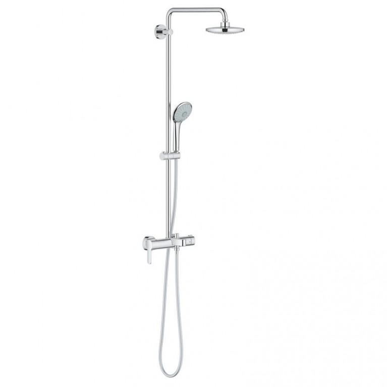 Euphoria System 180 Душевая система со смесителем для ванны, однорычажным, настенный монтаж