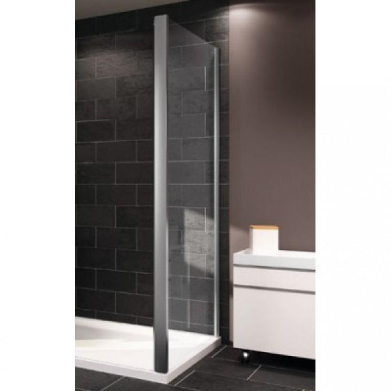 Стенка боковая HUPPE X1 100см, профиль хром глянцевый, стекло прозрачное