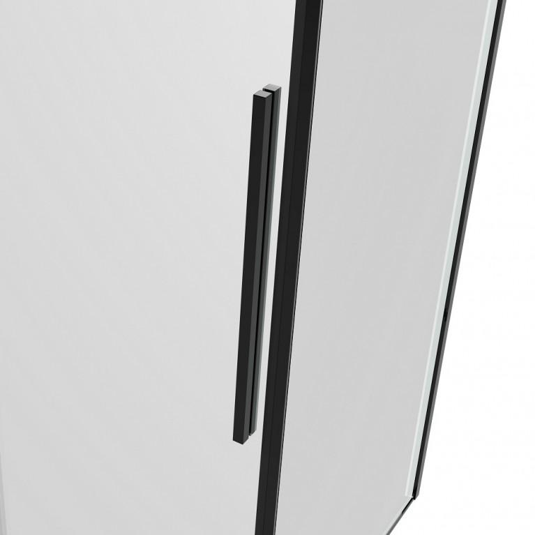 A LÁNY Душевая кабина квадратная 900*900*2085(на поддоне 135 мм) двери раздвижные, стекло прозрачное  6 мм, профиль черный 599-551 Black, фото 8