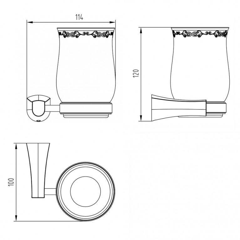 CUTHNA stribro стакан для зубных щеток 120280 stribro, фото 2