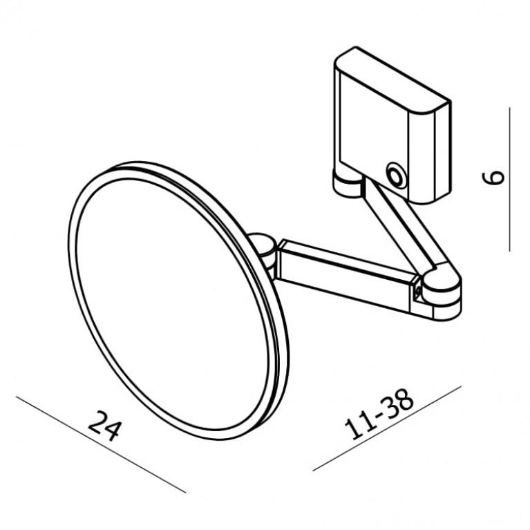 FIESTA зеркало, крепление к стене, LED подсветка, 3х 15-77-333, фото 2