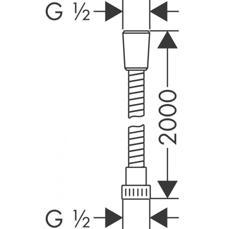 Metaflex``C Шланг душевой 2.00 м 28264000, фото 2