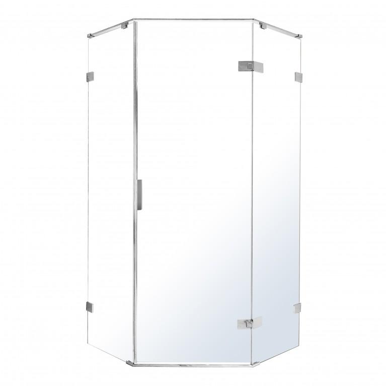 NEMO душевая кабина 5-ти угольная левая, распашная, прозрачное стекло 8мм, зеркальный хром