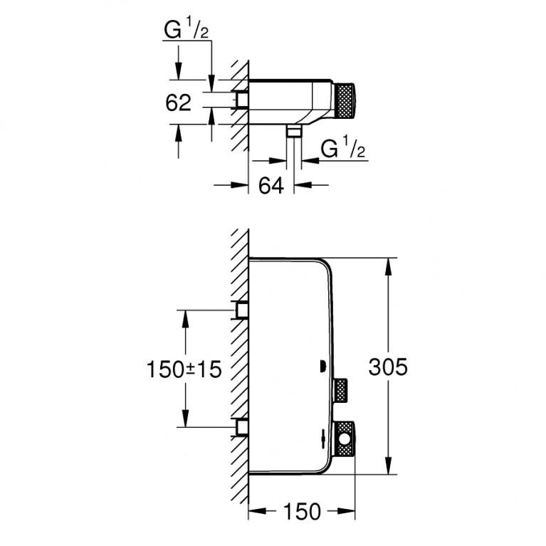 Grohtherm SmartControl термостат для душа 34719000, фото 2