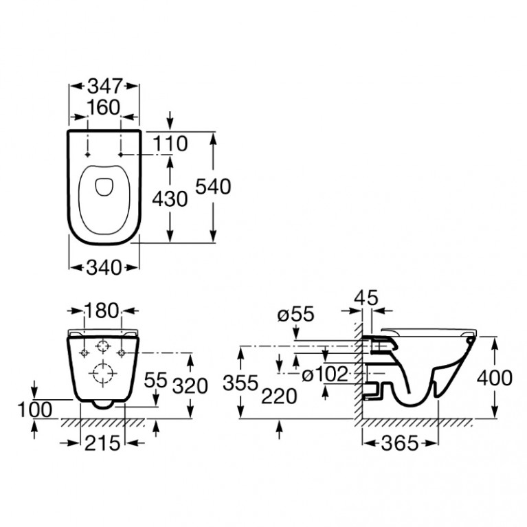 Комплект: GAP Rimless унитаз подвесной с сиденьем slow-closing A34H47C000+141515, фото 2