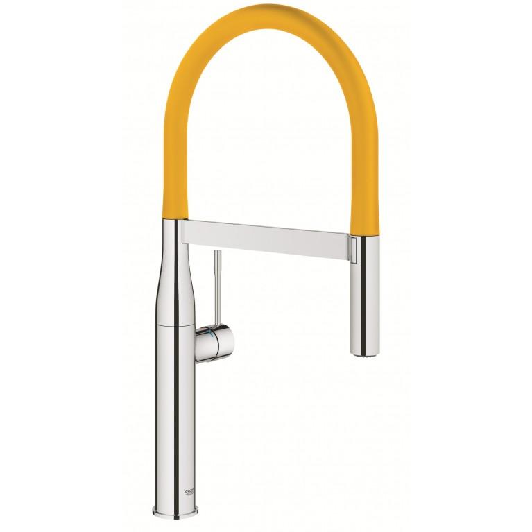 GROHFlexx Шланг гибкий с пружиной для смесителя на мойку, цвет желтый 30321YF0, фото 2